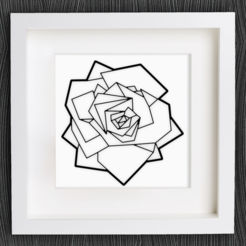 Download free STL Customizable Origami Rose, MightyNozzle