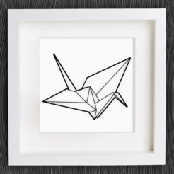 Download free 3D printer templates Customizable Origami Crane, MightyNozzle
