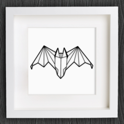 Download free 3D printer templates Customizable Origami Bat, MightyNozzle