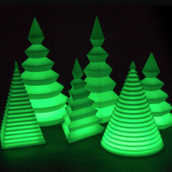 Free 3D model Customizable Christmas Tree, MightyNozzle