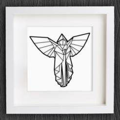 Descargar archivos STL gratis Ángel de Origami personalizable, MightyNozzle