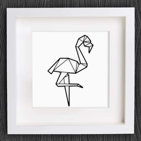 Free Customizable Origami Flamingo Stl File Cults