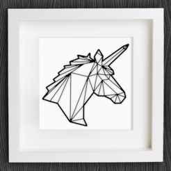 Free 3d model Customizable Origami Unicorn, MightyNozzle