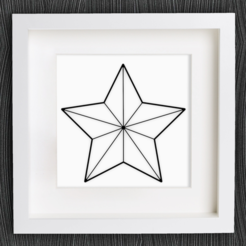 Free 3d print files Customizable Origami Christmas Star No. 1, MightyNozzle