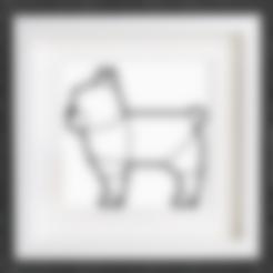 Impresiones 3D gratis Personalizable Origami Bulldog Francés, MightyNozzle
