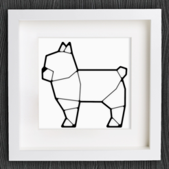Download free 3D printer templates Customizable Origami French Bulldog, MightyNozzle