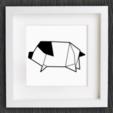 Capture d'écran 2017-11-27 à 10.32.43.png Download free STL file Customizable Origami Pig • 3D print template, MightyNozzle
