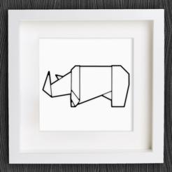 Descargar modelo 3D gratis Rinoceronte de Origami personalizable, MightyNozzle