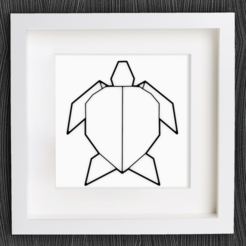 Download free 3D printing models Customizable Origami Turtle, MightyNozzle