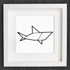 Download free 3D printing designs Customizable Origami Shark, MightyNozzle