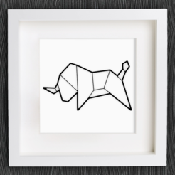 Download free STL file Customizable Origami Bull, MightyNozzle