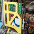 Download free STL file Anet AM8 RAMPS1.4 + Raspberry Pi 2 and 3 holder bracket 2020, 2040 • 3D printer design, MightyNozzle