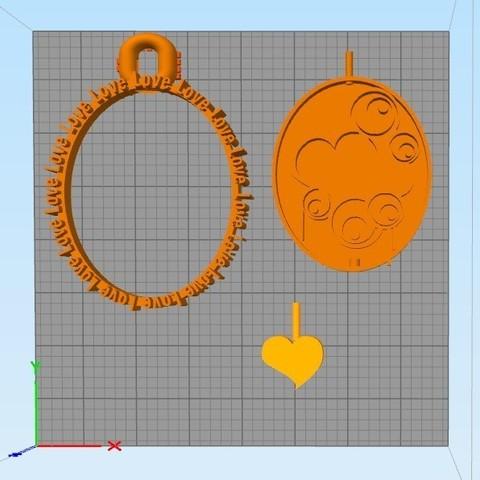 Télécharger fichier imprimante 3D Porte-clés amour, Dexter07