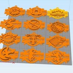 3D printer models game of thrones llavero, Dexter07