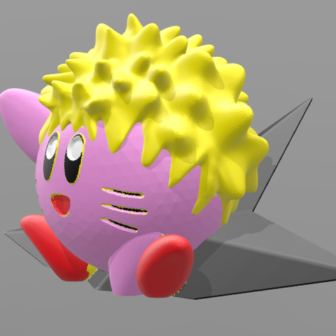 fffff.PNG Download OBJ file Kirby Naruto • 3D printable object, BODY_3D