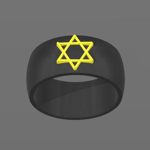 Bague David.PNG Download free STL file Star Ring of David • 3D printing design, BODY_3D