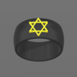 Free 3d printer designs Star Ring of David, BODY_3D