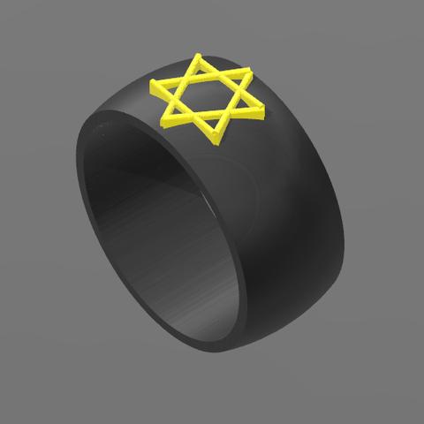 Bague David 2.PNG Download free STL file Star Ring of David • 3D printing design, BODY_3D