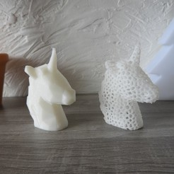 Free 3D printer files Unicorn - Low Poly / Voronoi, BODY_3D