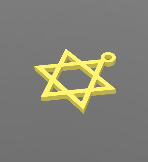 David 2.PNG Download free STL file Star of David Pendant • 3D printer model, BODY_3D