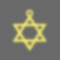 Pendentif Etoile de David.stl Download free STL file Star of David Pendant • 3D printer model, BODY_3D