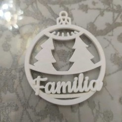 "bola arbol.jpeg Download STL file Christmas ball with ""PAPA"" trees • 3D print template, neovela"