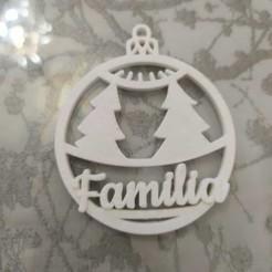"""bola arbol.jpeg Télécharger fichier STL Boule de Noël avec des arbres """"FAMILLE • Objet pour imprimante 3D, neovela"""