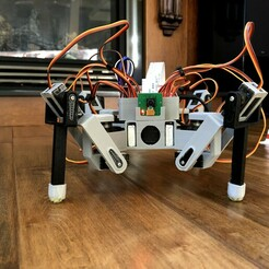 IMG_4500.jpg Download free STL file 3D Printed Raspberry Pi Spider Robot Platform • 3D printer design, morrisblue