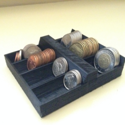Free 3D printer designs Coin Holder, morrisblue