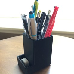 Download STL file Pencil Holder • 3D printer model, morrisblue