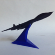 Download free STL Starfighters with a display stand, morrisblue