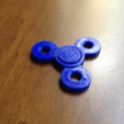 Free STL Bearingless Fidget Spinner, morrisblue