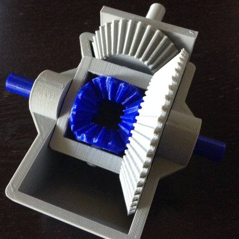 Free 3d printer designs Differential Gears, morrisblue