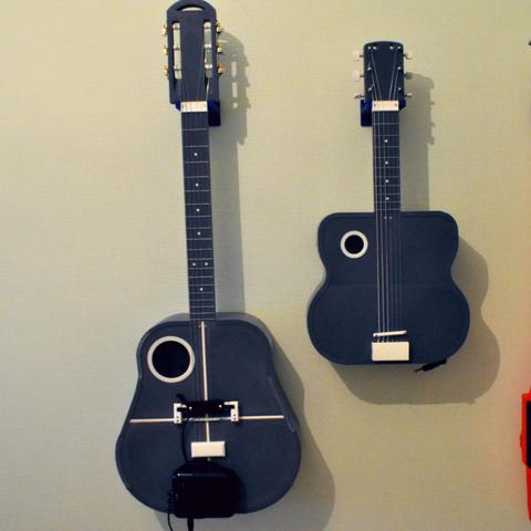 1.png Download free STL file Acoustic guitar with AROMA AG-03M amplifier • 3D printer model, CrocodileGene3d