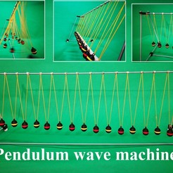 Free 3D printer model Pendulum wave machine, CrocodileGene3d