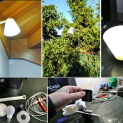 stl Lámpara estándar LED E27 220V gratis, CrocodileGene3d