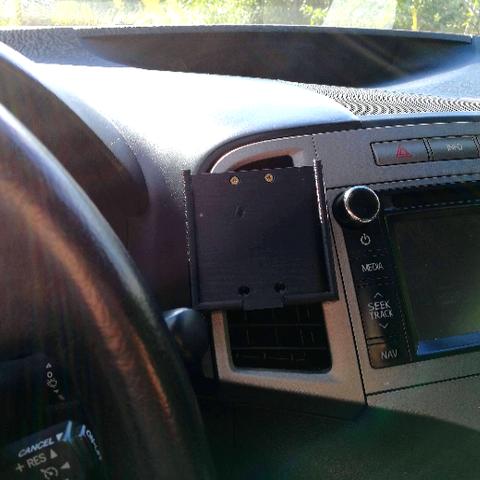 1.png Download free STL file Samsung Galaxy S7 edge car holder • Object to 3D print, CrocodileGene3d