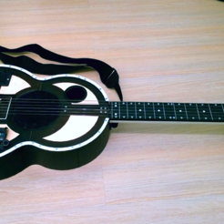 Free 3D printer designs Acoustic guitar , CrocodileGene3d