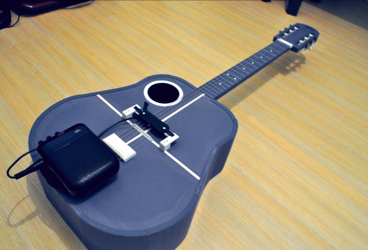 4.png Download free STL file Acoustic guitar with AROMA AG-03M amplifier • 3D printer model, CrocodileGene3d