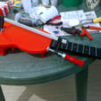 Free 3D print files Travel guitar with built-in Amp and Speaker, CrocodileGene3d