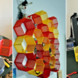 Free stl Hexagon fractal shelf, CrocodileGene3d
