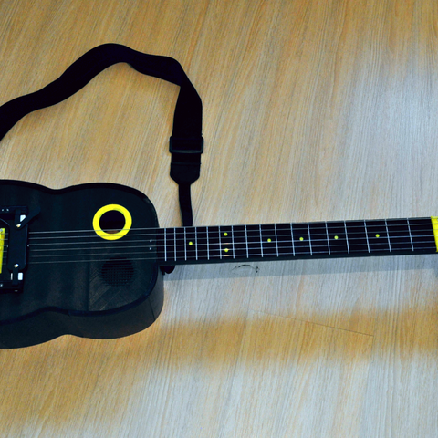 1.png Download free STL file Guitar with built in Amp and Speaker • 3D printable model, CrocodileGene3d