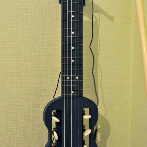 fichier stl gratuit mini guitare lectrique pour le voyage cults. Black Bedroom Furniture Sets. Home Design Ideas