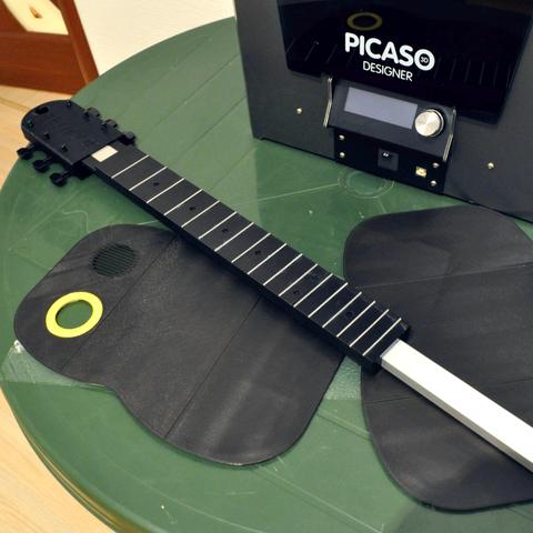 4.png Download free STL file Guitar with built in Amp and Speaker • 3D printable model, CrocodileGene3d