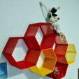 Free STL Hexagon fractal shelf, CrocodileGene3d