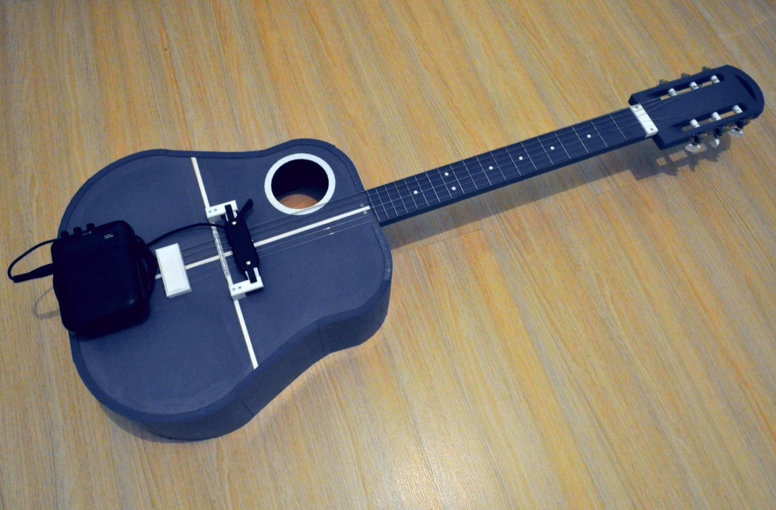 2.png Download free STL file Acoustic guitar with AROMA AG-03M amplifier • 3D printer model, CrocodileGene3d