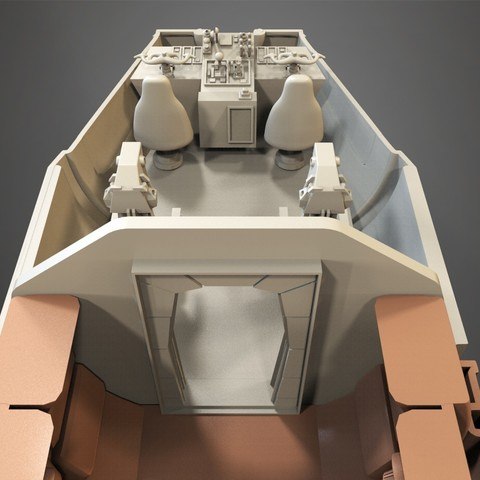 9.jpg Download free STL file Millenium Falcon, Cockpit.  • 3D printable object, Alex_x_x_x
