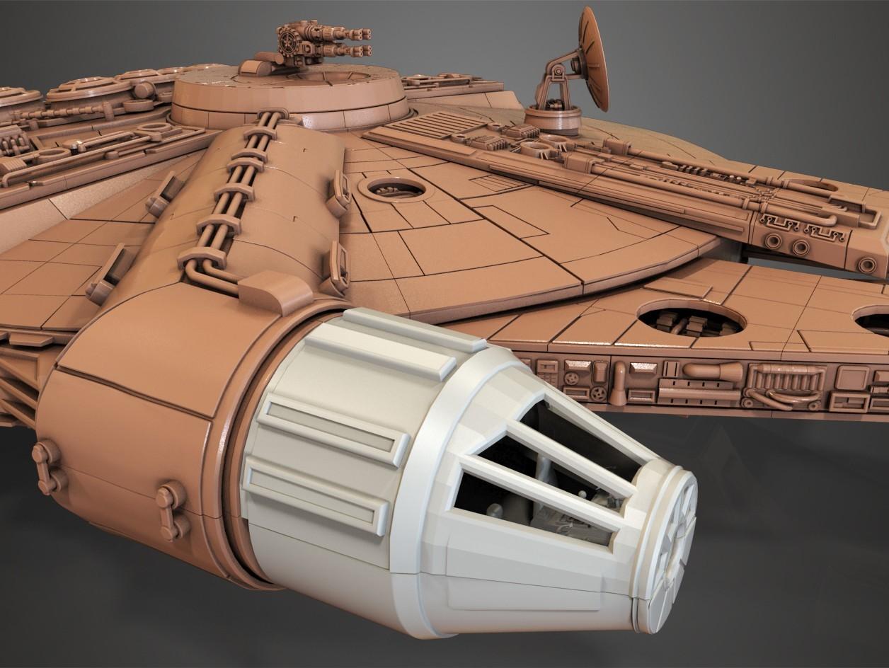 2.jpg Download free STL file Millenium Falcon, Cockpit.  • 3D printable object, Alex_x_x_x