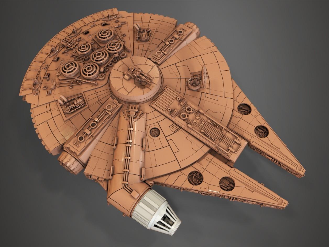 1.jpg Download free STL file Millenium Falcon, Cockpit.  • 3D printable object, Alex_x_x_x