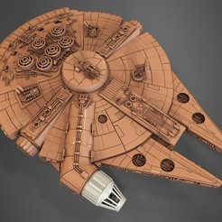 Free Millenium Falcon, Cockpit.  3D printer file, Alex_x_x_x
